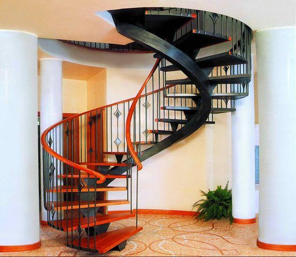 Железная винтовая лестница своими руками