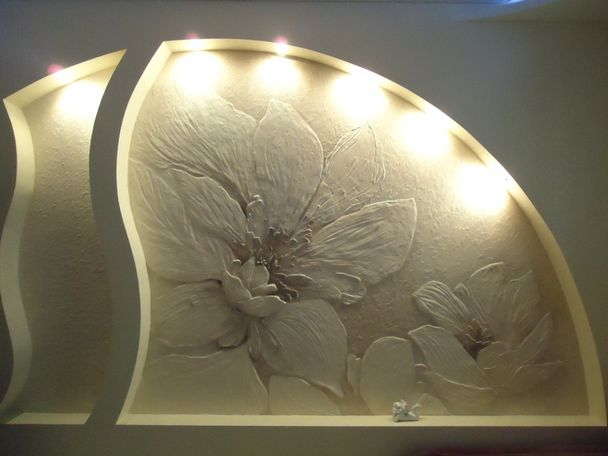 Декоративная штукатурка своими руками барельеф