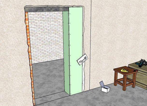 Уменьшить дверной проем своими руками