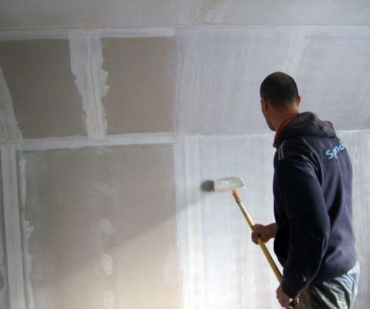 Технология работы грунтовки, штукатурки и шпаклевки потолка и стен наливные полы продажа опт